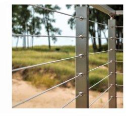 Leuning van de Kabel van de Draad van de kwaliteit de Openlucht/Balustrade/Traliewerk/de de Vierkante Post & Spanner van het Roestvrij staal
