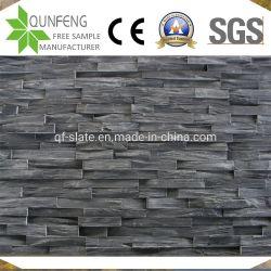 Pietra nera naturale della sporgenza dell'ardesia della parete della Cina