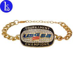 Yiwu-Fabrik-preiswerter Preis-kundenspezifisches gute Qualitätsbaseball-Meisterschaft-Armband