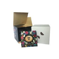 350g白いカードの紙箱を包むカスタム印刷のクラフト紙のギフト