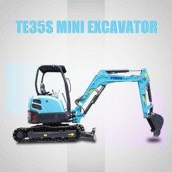 Nuevo Mini baratos Bagger realiza un seguimiento de la máquina excavadora hidráulica CE Mini excavadoras sobre orugas de la lista de precios para la venta 0,8 Ton Ton Ton 2 1 1.5 2.5 Ton Ton Ton Ton 5 3 3.5 ton.