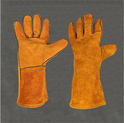 Промышленные рабочие перчатки коровы Split кожаные перчатки сварки