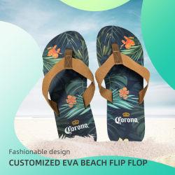 남자 해변 결혼식 인쇄된 여름 주문 로고 플립 플롭을%s EVA 도매 여자의 슬리퍼