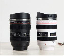 Großhandel Neue Linse Becher Doppelwand Edelstahl-Kaffeebecher Kamera Lenzbecher