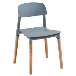 مقاعد مطعم متينة مصبوغة بالبلاستيك وطعام سريع للطاولة أكشاك مقاعد رمادية PP مقاعد رفع للبيع