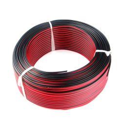 2*0.5mm2 ha inscatolato l'audio video collegare del cavo dell'altoparlante del conduttore di bianco dell'isolamento nero rosso di rame del PVC