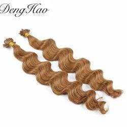 100% من شعر البكر البكر البكر كل الألوان الرأس المسطح المستقيم قبل التثبيت تمديد الشعر