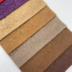 Текстильный Haining 100% полиэстер рельефным бархата трикотажные ткани диван-кровать, приклеенные с помощью Pongee