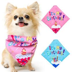 Bandana Dog Bibs Party Head Scarf Dog Grooming 액세서리