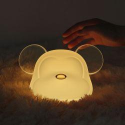 형식 0.6W 지적인 자동 종료 USB 7 색깔 적은 Mickey 플랩 LED 테이블 램프