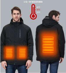 Adaptado al aire libre de carga USB de carga de calefacción de los hombres chaqueta impermeable inteligente pareja caliente la ropa de Esquí Equitación marea