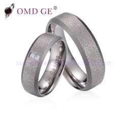 Spécial de l'anneau en titane noir et argent Hommes Femmes titane mat bague de mariage bijoux personnalisés