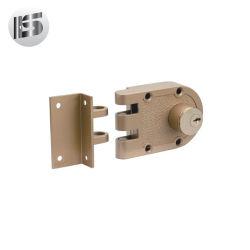 L'alta qualità Phillps Front Cerradura De Sobreponer Brass principale verniciato doppia obbligazione Chapa serra la serratura dell'orlo della tigre del portello del fermo