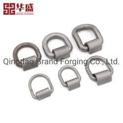 Venta directa de fábrica de cuerdas Accesorios de hardware Hardware de la Marina de acero al carbono forjado Drop D los anillos con clip de soporte de