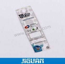 Baixa quantidade mínima de simples quadrado de plástico Hangtag Etiqueta para jeans