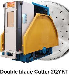 Machines Hualong double lame Machine de découpe de pierre de carrière pour bloc de marbre