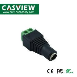 Gleichstrom-weiblicher Stecker mit schraubenartiger BNC Stecker männlichem Gleichstrom-Verbinder für LED-oder CCTV-Überwachungssystem Kamera-Kabel-Verbinder CCTV-Verbinder-Koaxialitäts-Energien-Kabel-Verbinder