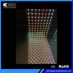 Tenda LED esterno della maglia della facciata di media di P56.25 (4LEDs) LED che fa pubblicità alla visualizzazione
