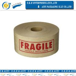 Okh envasado de agua de mojado de Kraft reforzado con la impresión de cinta
