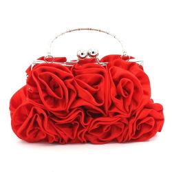 Junyuan Rose Beutel-Kupplungs-Handtasche der Dame-Hand, Abend-Beutel für Frauen