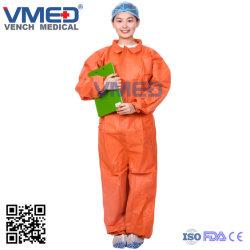 Veiligheid PP/SMS/Coverall, Beschermend Overtrek van het Overtrek van het Ziekenhuis van de Fabriek van het Overtrek SMS de Beschikbare niet Geweven Chemische Waterdichte Beschermende