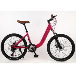 الصين مورد إطار فولاذي المرأة الدراجة / أفضل 21 ساعة Gear City Mountain الدراجة/الشعار مخصصة Caliper Brake Urban Mountain Bike