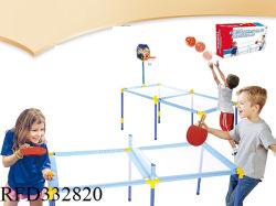 لعبة الأطفال الرياضية مجموعة 2 في 1 لعبة كرة الطاولة ومعدات لعبة كرة السلة