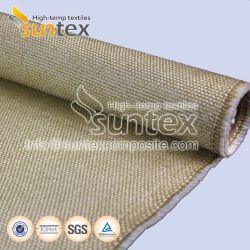 Tubo de fibra de alta temperatura de isolamento de fibra de vidro de protecção de soldadura de Pano Cortina de Fogo vermiculita tecidos de fibra de vidro revestidos