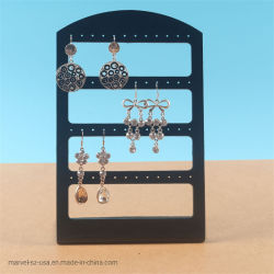 24のペアのイヤリングの宝石類の黒のホールダーの棚の表示オルガナイザーの立場