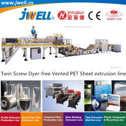 Parafuso Jwell-Twin Dyer-Free ventilado de plástico PET Reciclagem de folhas tornando máquina de extrusão de máquinas para Termoformagem indústria de embalagem