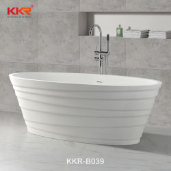 Vasca di bagno ovale di pietra artificiale della stanza da bagno di figura (190812)