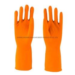 orange wasserdichte Latex-Gummi-Handschuhe des Haushalts-50g
