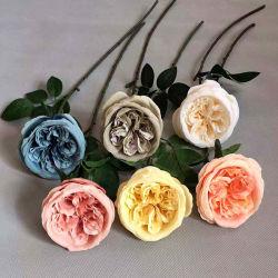 Nuevo estilo europeo, la llegada de rosa de seda artificial de la flor rosa Austin
