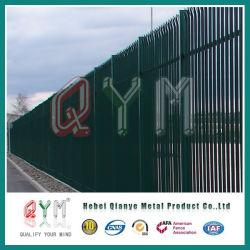 Palisade valla de acero/ W tipo empalizada valla/cercas de acero de alta seguridad