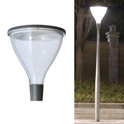 Peonylighting современных IP65 алюминий серого цвета для установки вне помещений LED Post верхний индикатор водонепроницаемый 55Вт Светодиодные лампы в саду