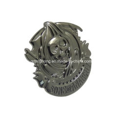 Gunmetal-Schädel Metallplatten für Beutel