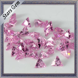 Pink Triangle forme Zirconia Cubique pierre synthétique