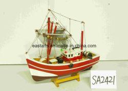 Mini Modèle de navire de pêche en bois pour la vente