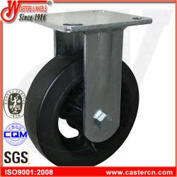 4 بوصة ثقيلة - واجب رسم عجلة أسود مطّاطة سابكة ثابتة