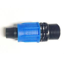 El riego del jardín de plástico los racores con rosca macho del tubo de LDPE Joint con bloqueo
