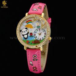 Trendy Horloge van de Diamant van de Manier van de Band van het Leer voor Vrouwen