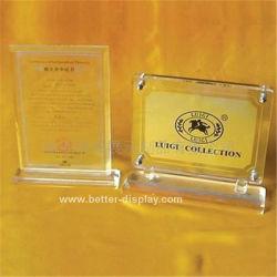 Acrílico transparente personalizada Crystal Award Placas (7039 BTR-I)