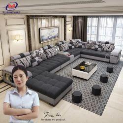 現代的な居間の家具の大きい灰色のU字型ソファの現代部門別のソファー