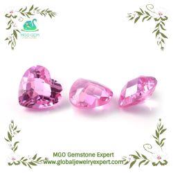 Labor des MgO-Edelstein-synthetisches Korund-3# weiß lose gewachsen, Lavendel, Veilchen, Goldgelb, Champagn rosafarbener Saphir-runder ausgezeichneter Schnitt-Edelstein