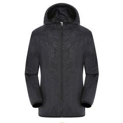 2021 noir étanche extérieur Logo personnalisé veste légère des filles Windcheater