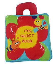 Kinder, die früh Buch-weiches pädagogisches Spielzeug-Tuch-Gewebe-Blumen-Baby-Ruhe-Buch erlernen