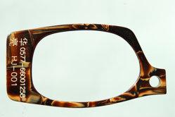 Feuille en acétate de cellulose utilisée pour châssis optique, Cheveux décoration, accessoires de mode (HJ-001)