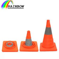 합리적인 가격의 안전 시설 오렌지 아이 캐칭 리플렉티브 접이식 펜가블 도로 방면 접이식 도로 원뿔형/코노