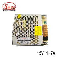15VDC 1.7A 25W 동봉하는 전력 공급에 Smun S-25-15 100-240VAC