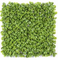 L'intérieur anti-UV ignifuge résistant Fake feuillage feuille d'herbe jardin haie de toile de fond de l'écran de clôture de la vie privée vertical 3D usine artificiel vert Panneau mural